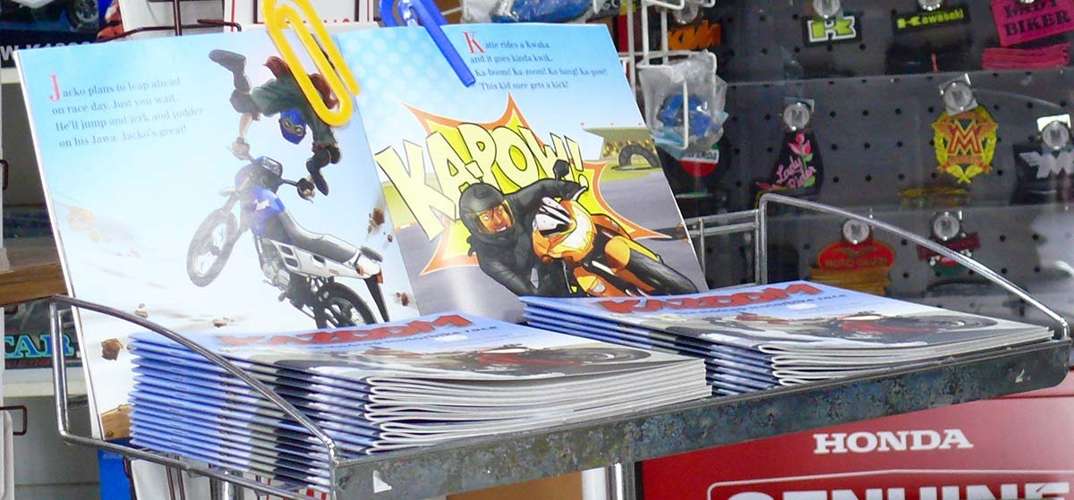 Kazoom the book at the National Motorcycle Museum of Australia