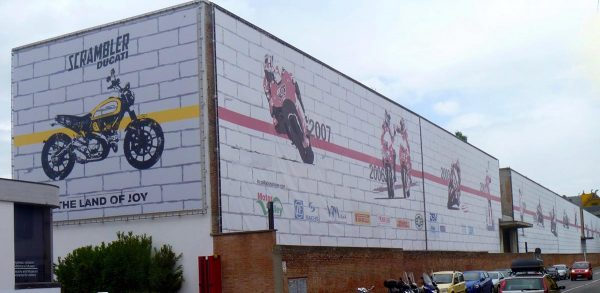 ducati factory building in bologna