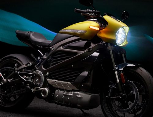 It's electric. It's a motorbike. It's the Harley LiveWire electric motorcycle.