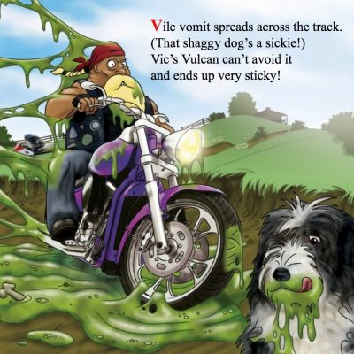 Vic on his Vulcan