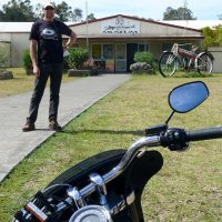 Brian at the National Motorcycle Museum in Nabiac